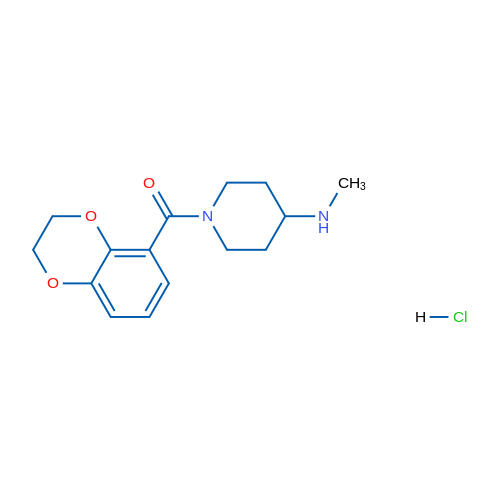 (2,3-Dihydrobenzo[b][1,4]dioxin-5-yl)(4-(methylamino)piperidin-1-yl)methanone hydrochloride