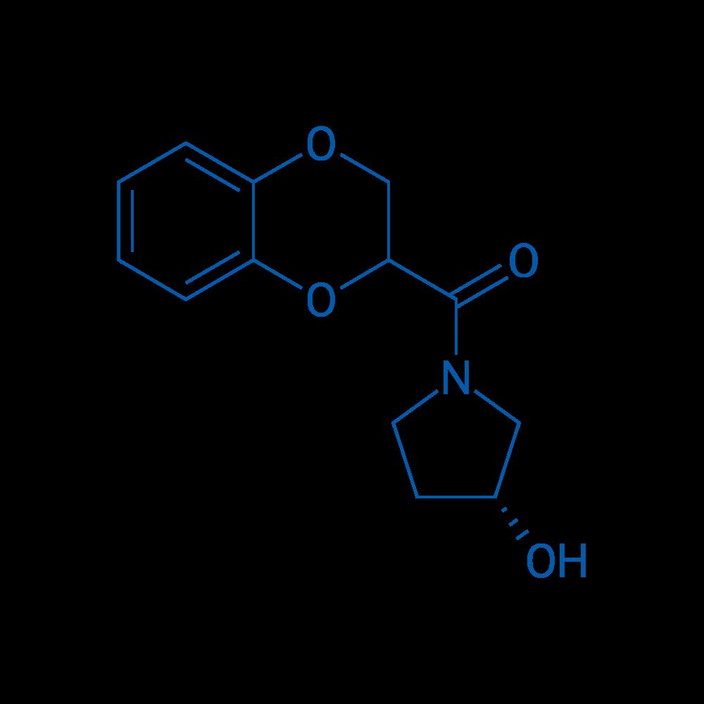 (2,3-Dihydrobenzo[b][1,4]dioxin-2-yl)((R)-3-hydroxypyrrolidin-1-yl)methanone