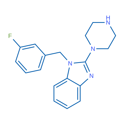 1-(3-Fluorobenzyl)-2-(piperazin-1-yl)-1H-benzo[d]imidazole