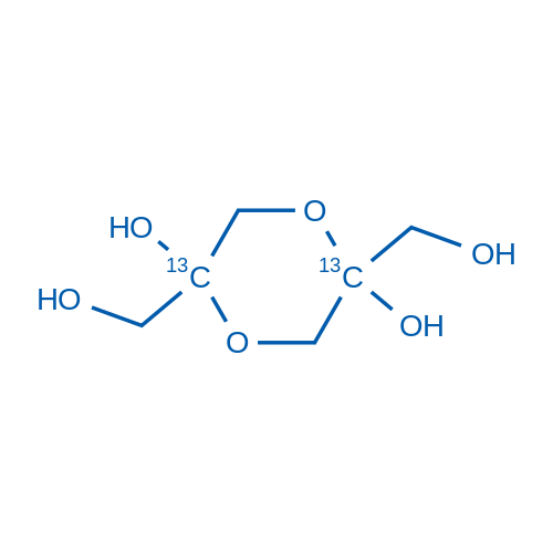 2,5-Bis(hydroxymethyl)-1,4-dioxane-2,5-diol-2,5-13C2