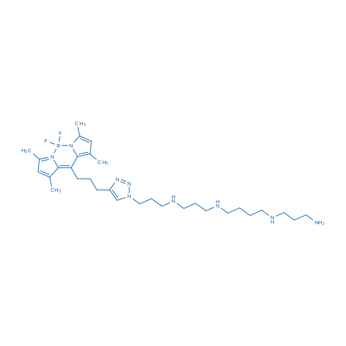 10-(3-(1-(3-((3-((4-((3-Aminopropyl)amino)butyl)amino)propyl)amino)propyl)-1H-1,2,3-triazol-4-yl)propyl)-5,5-difluoro-1,3,7,9-tetramethyl-5H-dipyrrolo[1,2-c:2',1'-f][1,3,2]diazaborinin-4-ium-5-uide