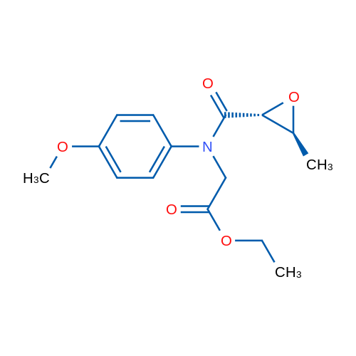 Ethyl 2-((2R,3S)-N-(4-methoxyphenyl)-3-methyloxirane-2-carboxamido)acetate