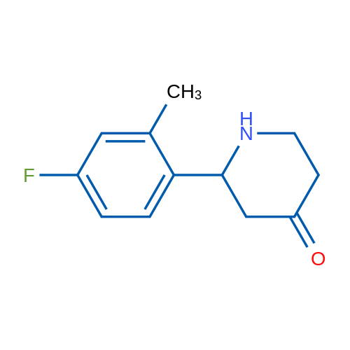 2-(4-Fluoro-2-methylphenyl)piperidin-4-one