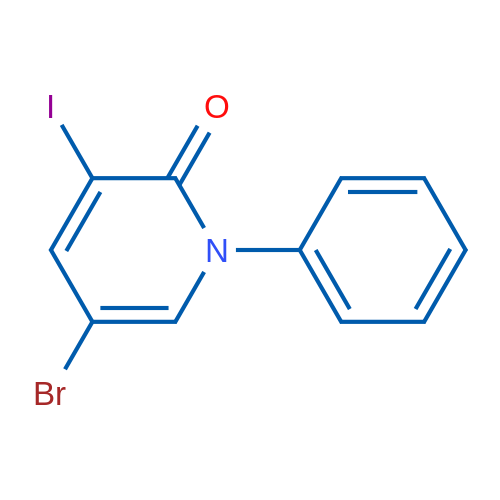 5-Bromo-3-iodo-1-phenylpyridin-2(1H)-one