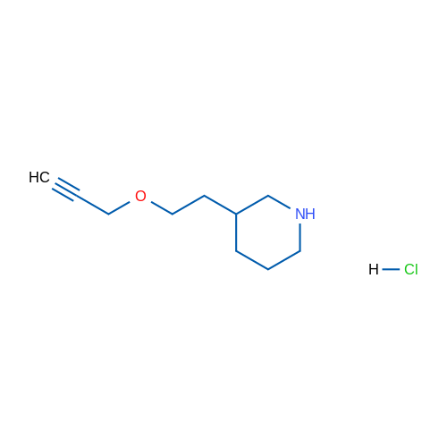 3-(2-(Prop-2-yn-1-yloxy)ethyl)piperidine hydrochloride