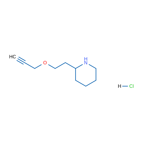 2-(2-(Prop-2-yn-1-yloxy)ethyl)piperidine hydrochloride