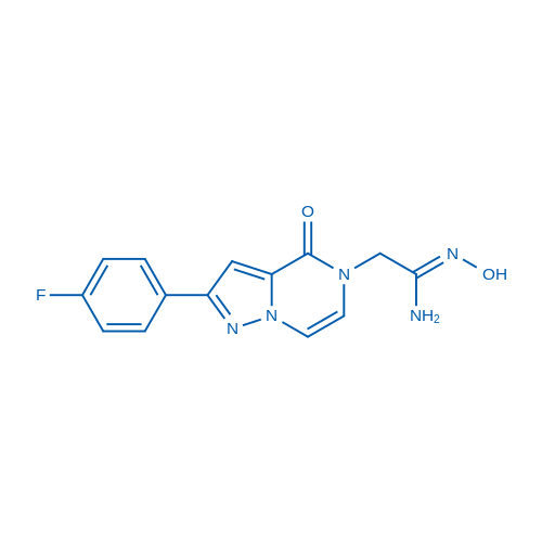 2-(2-(4-Fluorophenyl)-4-oxopyrazolo[1,5-a]pyrazin-5(4H)-yl)-N'-hydroxyacetimidamide