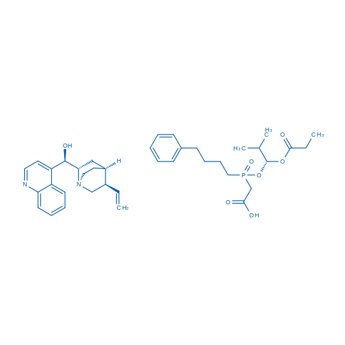 (R)-Quinolin-4-yl((1S,2S,4S,5R)-5-vinylquinuclidin-2-yl)methanol 2-(((R)-2-methyl-1-(propionyloxy)propoxy)(4-phenylbutyl)phosphoryl)acetic acid(1:1)