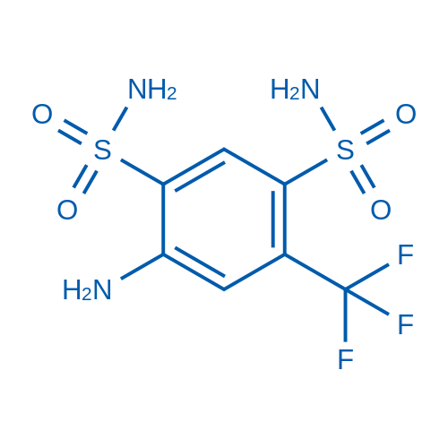 4-Amino-6-(trifluoromethyl)benzene-1,3-disulfonamide