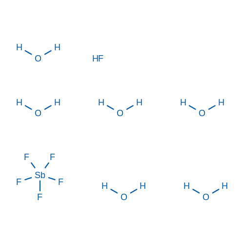Hydrogen hexafluorostibate(V) hexahydrate