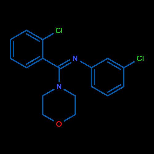 (Z)-3-Chloro-N-((2-chlorophenyl)(morpholino)methylene)aniline
