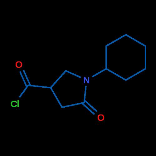 1-Cyclohexyl-5-oxopyrrolidine-3-carbonylchloride