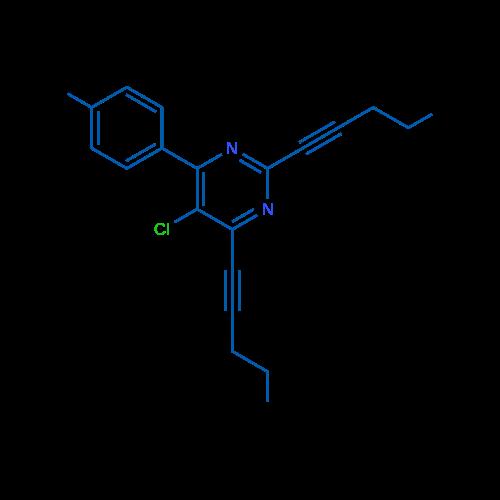 5-Chloro-2,4-di(pent-1-yn-1-yl)-6-(p-tolyl)pyrimidine