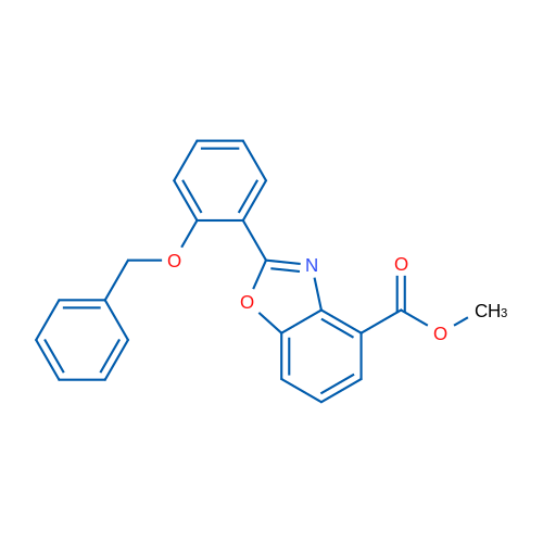 Methyl 2-(2-(benzyloxy)phenyl)benzo[d]oxazole-4-carboxylate