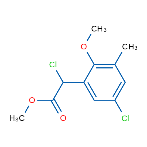 Methyl 2-chloro-2-(5-chloro-2-methoxy-3-methylphenyl)acetate
