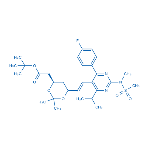 tert-Butyl 2-((4R,6S)-6-((E)-2-(4-(4-fluorophenyl)-6-isopropyl-2-(N-methylmethylsulfonamido)pyrimidin-5-yl)vinyl)-2,2-dimethyl-1,3-dioxan-4-yl)acetate