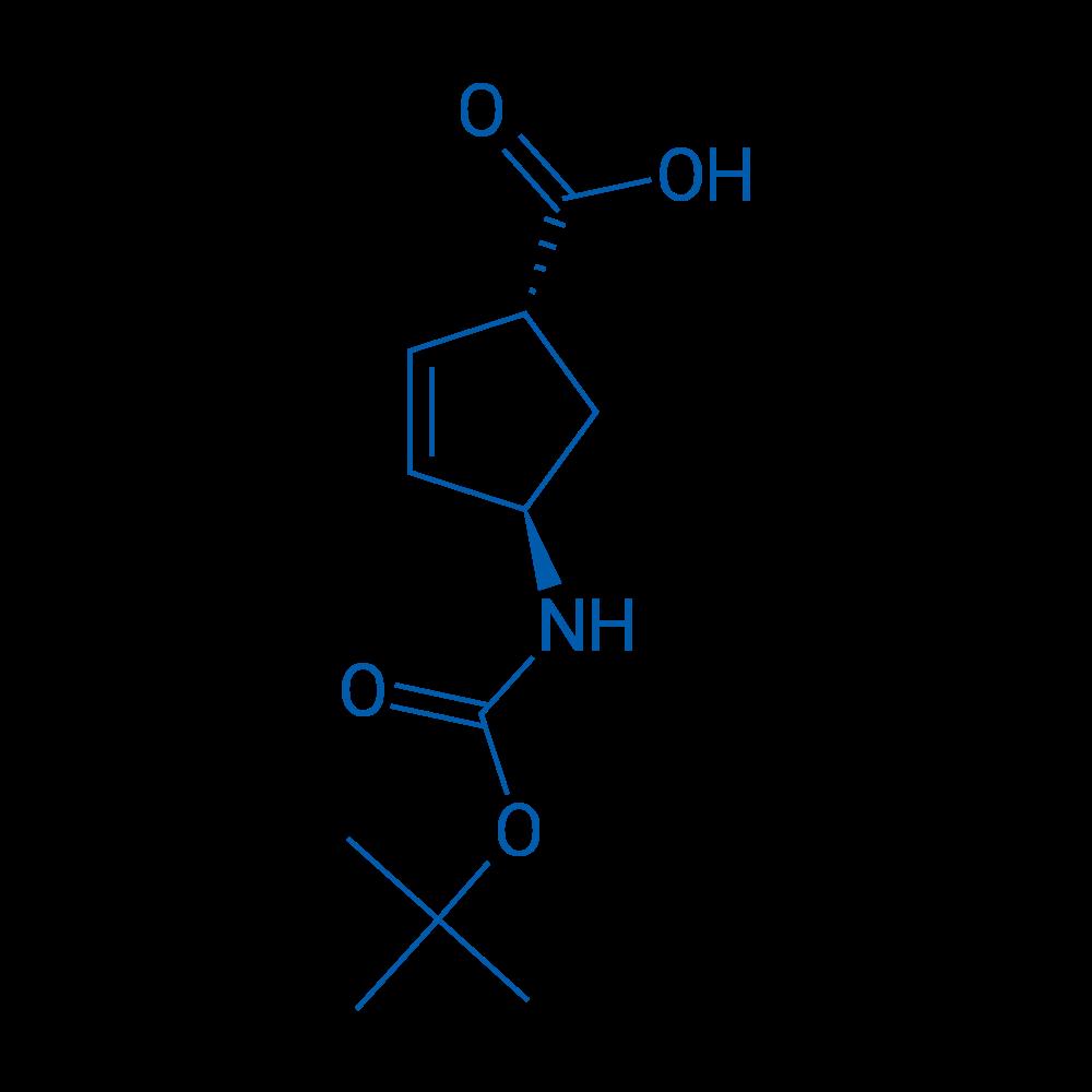 (1R,4R)-4-((tert-Butoxycarbonyl)amino)cyclopent-2-enecarboxylic acid