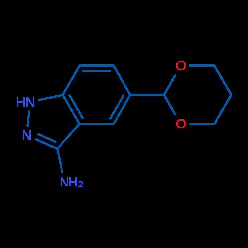 5-(1,3-Dioxan-2-yl)-1H-indazol-3-amine