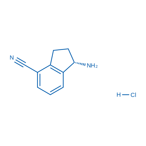 (S)-1-Amino-2,3-dihydro-1H-indene-4-carbonitrile hydrochloride