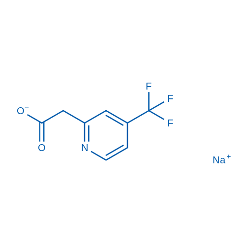 2-(4-(Trifluoromethyl)pyridin-2-yl)acetic acid, sodium salt