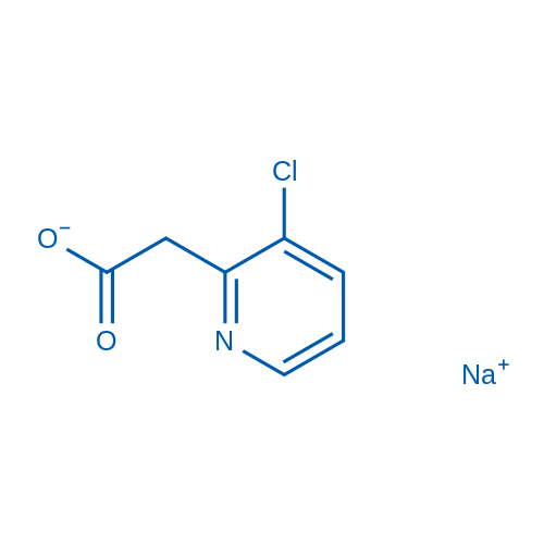 2-(3-Chloropyridin-2-yl)acetic acid, sodium salt
