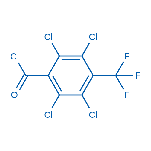 2,3,5,6-tetrachloro-4-(trifluoromethyl)benzoyl chloride