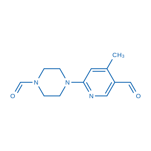 4-(5-Formyl-4-methylpyridin-2-yl)piperazine-1-carbaldehyde