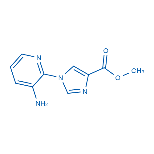 Methyl 1-(3-aminopyridin-2-yl)-1H-imidazole-4-carboxylate