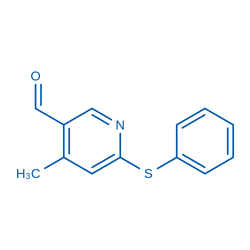 4-Methyl-6-(phenylthio)nicotinaldehyde