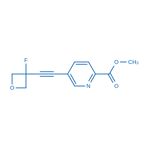 Methyl 5-((3-fluorooxetan-3-yl)ethynyl)picolinate