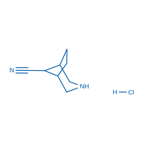 3-Azabicyclo[3.2.1]octane-8-carbonitrile hydrochloride