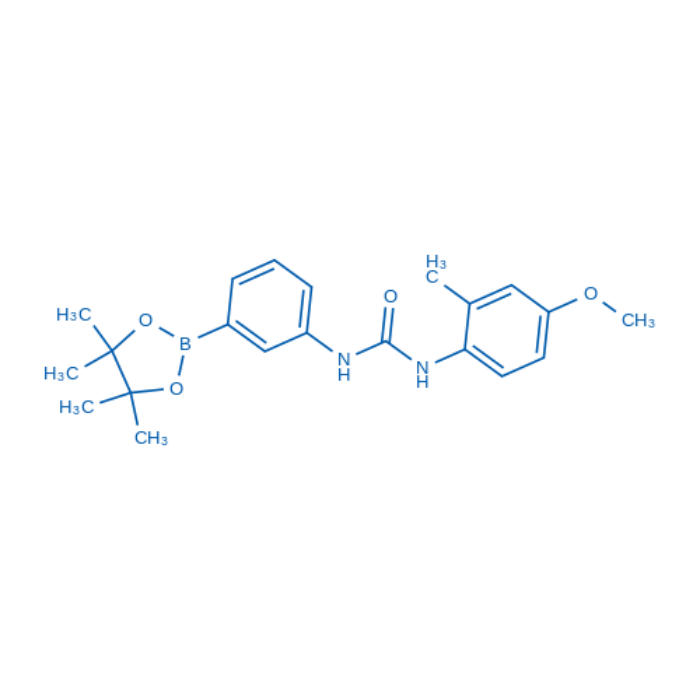 1-(4-Methoxy-2-methylphenyl)-3-(3-(4,4,5,5-tetramethyl-1,3,2-dioxaborolan-2-yl)phenyl)urea