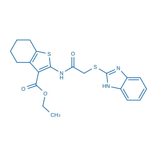 Ethyl 2-(2-((1H-benzo[d]imidazol-2-yl)thio)acetamido)-4,5,6,7-tetrahydrobenzo[b]thiophene-3-carboxylate