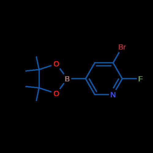 3-Bromo-2-fluoro-5-(4,4,5,5-tetramethyl-1,3,2-dioxaborolan-2-yl)pyridine