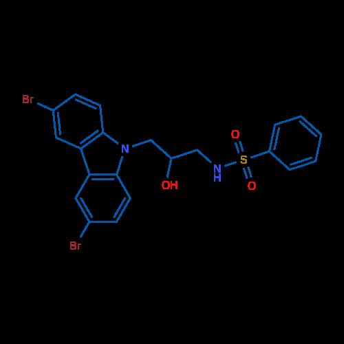 N-(3-(3,6-Dibromo-9H-carbazol-9-yl)-2-hydroxypropyl)benzenesulfonamide