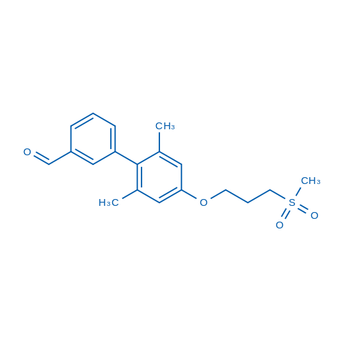 2',6'-Dimethyl-4'-(3-(methylsulfonyl)propoxy)-[1,1'-biphenyl]-3-carbaldehyde