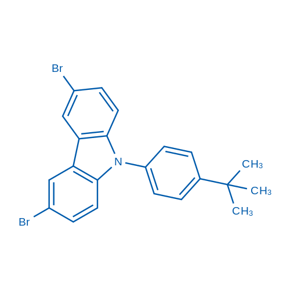 3,6-Dibromo-9-(4-(tert-butyl)phenyl)-9H-carbazole