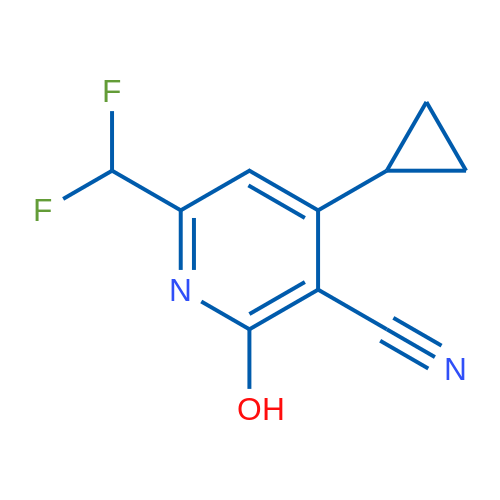 4-Cyclopropyl-6-(difluoromethyl)-2-hydroxynicotinonitrile