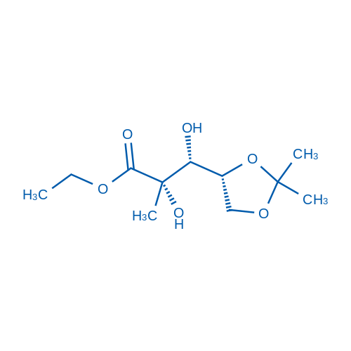 (2S,3R)-Ethyl 3-((R)-2,2-dimethyl-1,3-dioxolan-4-yl)-2,3-dihydroxy-2-methylpropanoate