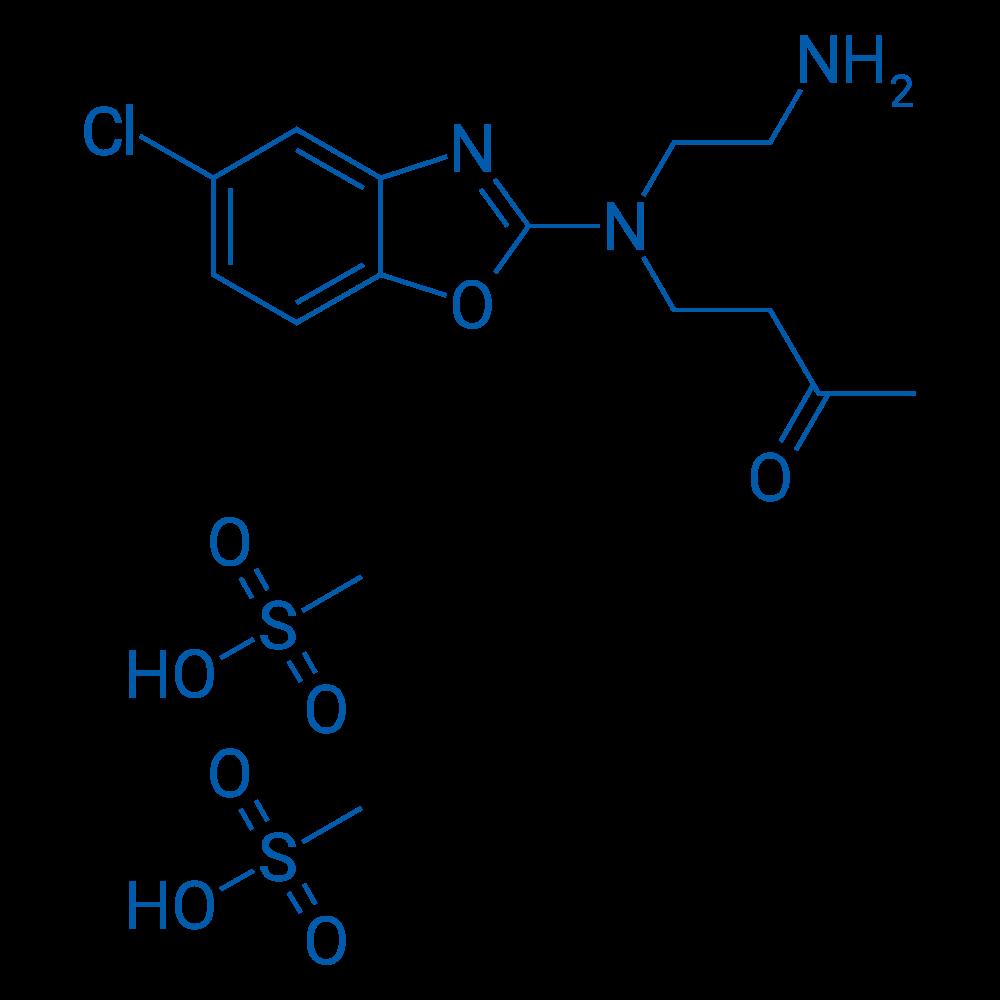 4-((2-Aminoethyl)(5-chlorobenzo[d]oxazol-2-yl)amino)butan-2-one dimethanesulfonate