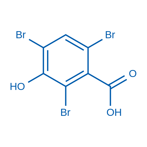 3-Hydroxy-2,4,6-tribromobenzoic acid