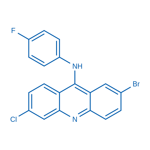 2-Bromo-6-chloro-N-(4-fluorophenyl)acridin-9-amine