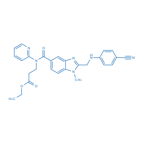 Ethyl 3-(2-(((4-cyanophenyl)amino)methyl)-1-methyl-N-(pyridin-2-yl)-1H-benzo[d]imidazole-5-carboxamido)propanoate