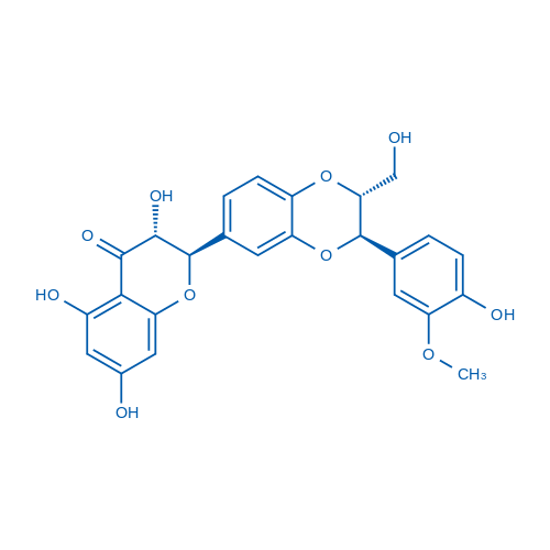 (2R,3R)-3,5,7-Trihydroxy-2-((2R,3R)-3-(4-hydroxy-3-methoxyphenyl)-2-(hydroxymethyl)-2,3-dihydrobenzo[b][1,4]dioxin-6-yl)chroman-4-one