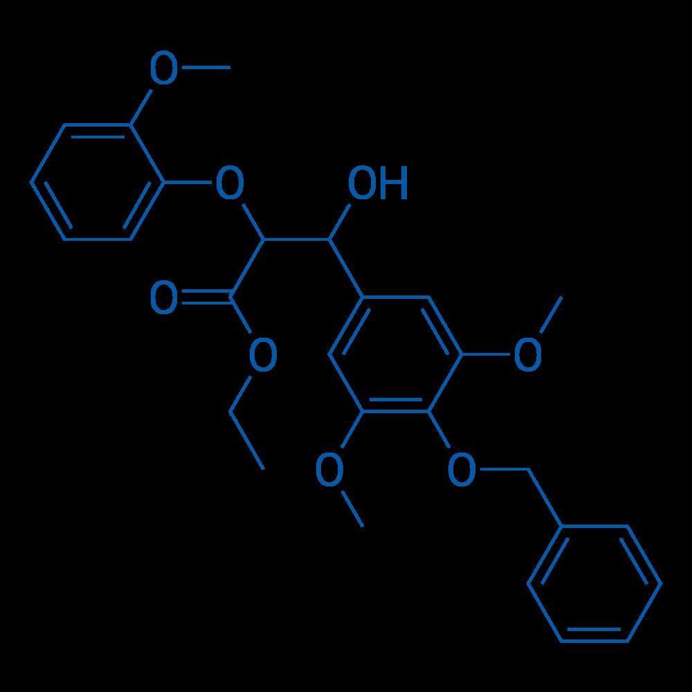Ethyl 3-(4-(benzyloxy)-3,5-dimethoxyphenyl)-3-hydroxy-2-(2-methoxyphenoxy)propanoate