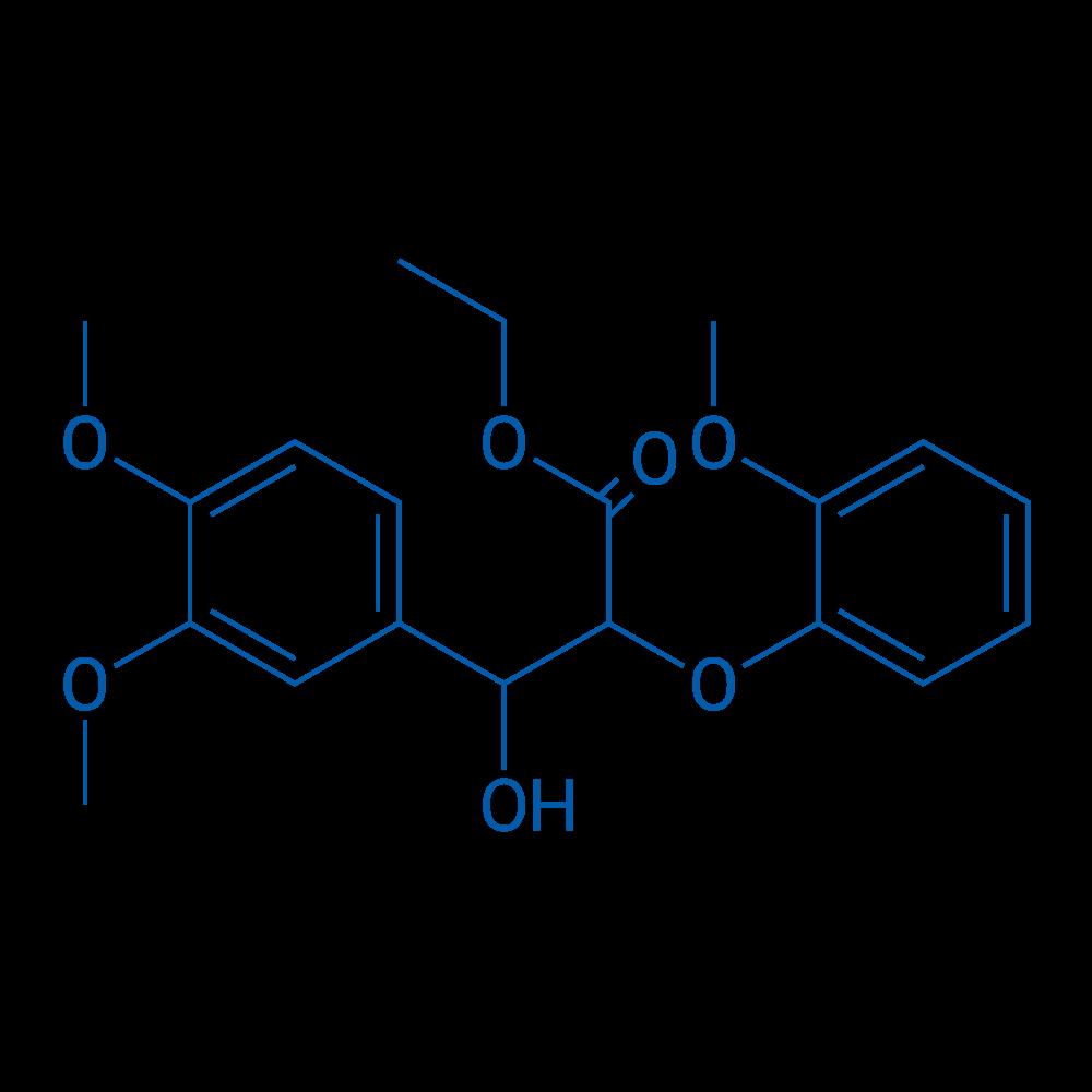 Ethyl 3-(3,4-dimethoxyphenyl)-3-hydroxy-2-(2-methoxyphenoxy)propanoate