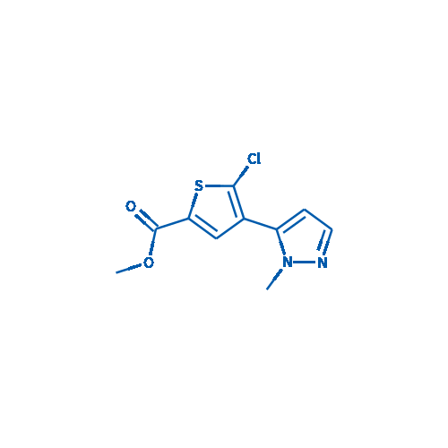 Methyl 5-chloro-4-(1-methyl-1H-pyrazol-5-yl)thiophene-2-carboxylate