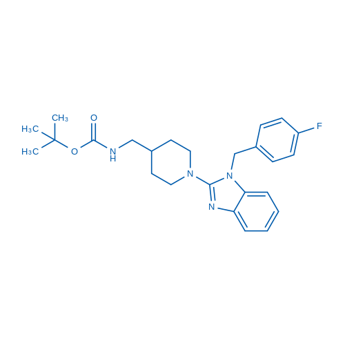 tert-Butyl ((1-(1-(4-fluorobenzyl)-1H-benzo[d]imidazol-2-yl)piperidin-4-yl)methyl)carbamate