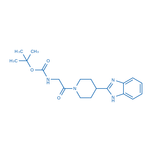 tert-Butyl (2-(4-(1H-benzo[d]imidazol-2-yl)piperidin-1-yl)-2-oxoethyl)carbamate