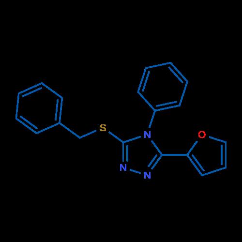 3-(Benzylthio)-5-(furan-2-yl)-4-phenyl-4H-1,2,4-triazole